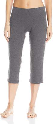 Danskin Women's Sleek Fit Yoga Crop Pant