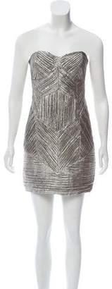 John Paul Ataker Strapless Metallic Dress w/ Tags