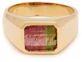 Jacquie Aiche Tourmaline Signet Ring - Womens - Green