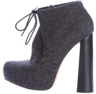 Alexander WangAlexander Wang Wool Platform Ankle Boots