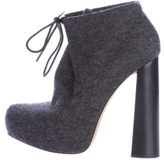 Alexander Wang Wool Platform Ankle Boots
