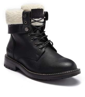 GUESS Faux Shearling Lace-Up Boot