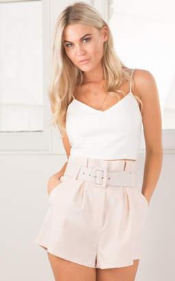 Showpo Globe Trotter shorts in blush marle