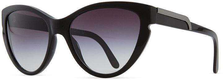 Stella McCartney Cat-Eye Sunglasses, Black