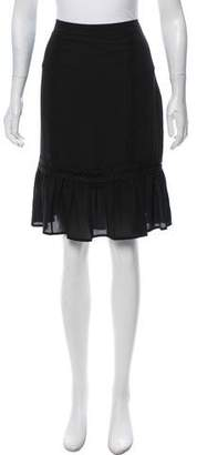 Karl Lagerfeld Knee-Length Pleated Skirt w/ Tags