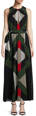 Calvin Klein Sleeveless Chiffon Maxi Dress