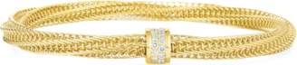 Roberto Coin Primavera Diamond Woven Bangle Bracelet