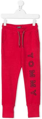 Tommy Hilfiger Junior logo print track pants