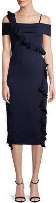 Jason Wu Women's Merino Cold-Shoulder Dress