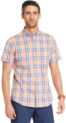 Izod Men's CoolFX Classic-Fit Plaid Moisture-Wicking Button-Down Shirt
