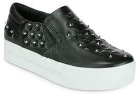 Ash Joke Studded Leather Platform Sneakers