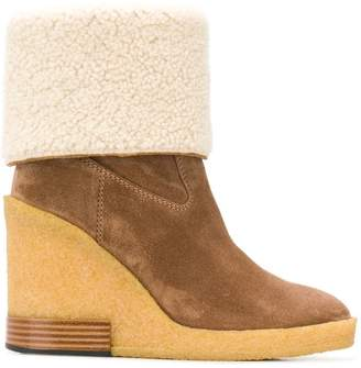 Tod's wedge ankle boots