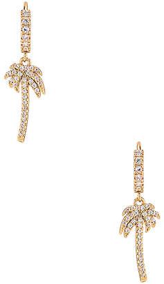 Ettika Palm Tree Huggie Earrings