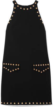 Moschino Studded Crepe Mini Dress - Black