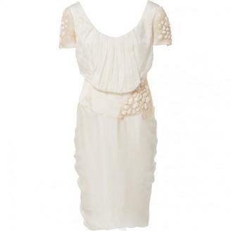 Christian Lacroix Ecru Silk Dress for Women