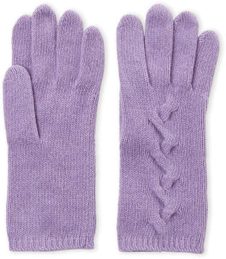 Portolano Cashmere Cable Knit Gloves