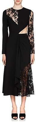 Givenchy Women's Cutout Mixed-Media Dress - Black