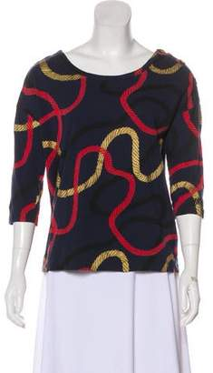 Marc by Marc Jacobs Printed Long Sleeve Top