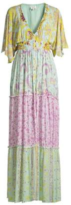 HEMANT AND NANDITA Multi Floral Print Maxi Dress