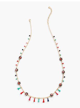 Talbots Threads & Flowers Layer Necklace
