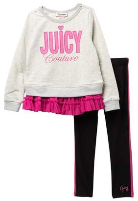 1bd6a35f3031b4 Juicy Couture Tulle Bottom Tunic   Leggings Set (Toddler Girls)