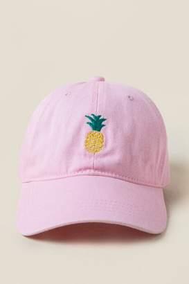 francesca's Pineapple Baseball Cap in Pink - Pink