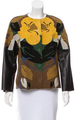 Etro Floral Leather Jacket