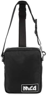Black Harness Nylon Belt Bag