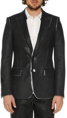 Off-White Men's Skinny Leather-Like Blazer