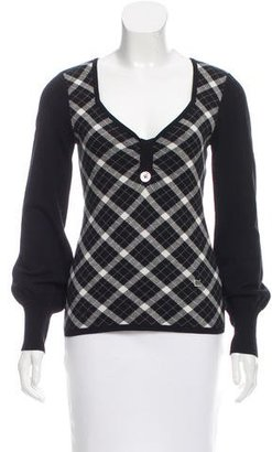 Karen Millen Plaid Knit Sweater $80 thestylecure.com