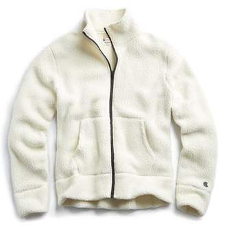 Todd Snyder + Champion Polartec Fullzip Jacket in Cream