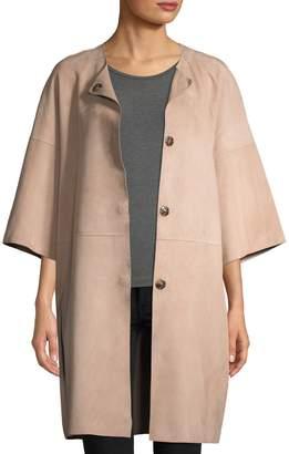 Yves Salomon Women's Double-Face Lamb Leather Coat