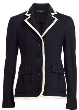 Rag & Bone Uni Contrast Piping Wool Blazer