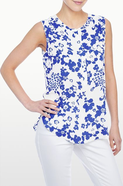 NYDJ Day Tripper Floral Print Blouse