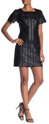 Molly Bracken Faux Leather Detailed Dress