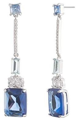 Carolee Women's Ocean Blues-Pe-Long Linear Drop Earrings
