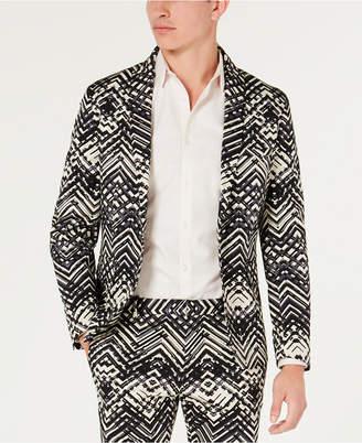 INC International Concepts Inc Men Slim-Fit Stretch Abstract Suit Jacket
