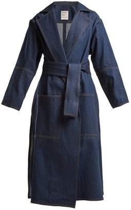 Maison Rabih Kayrouz Notch Lapel Denim Coat - Womens - Denim