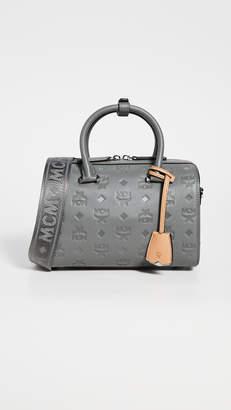 MCM Essential Monogrammed Boston Bag