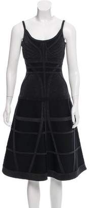 Herve Leger Areca Midi Dress