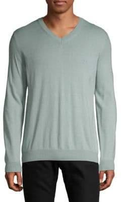 HUGO BOSS V-Neck Cotton & Wool Sweater