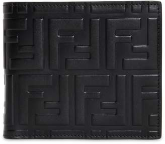 Fendi Ff Embossed Leather Classic Wallet