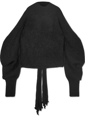 16ARLINGTON - Cold-shoulder Knitted Turtleneck Sweater - Black