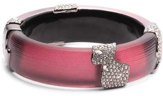 Alexis Bittar Crystal Accented Lucite Hinge Bracelet