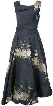 Rubin Singer textured asymmetric midi dress