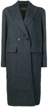Cédric Charlier double-breasted tartan coat