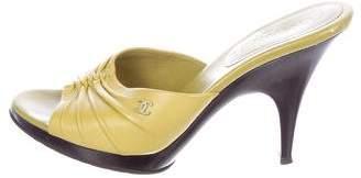 Chanel Leather Slide Sandals