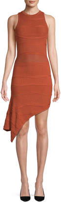 Torn By Ronny Kobo Alzata Asymmetric Sheath Dress
