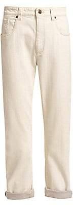 Brunello Cucinelli Women's Garment-Dyed Selvedge Denim Jeans