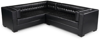 Chic Home Lorenzo Black Leather Left Sectional